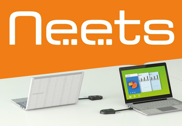 Neets orange square logo